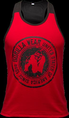 Gorilla Wear Roswell Tank Top - Rood/Zwart