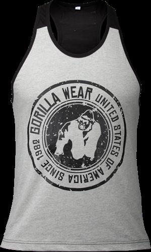 Gorilla Wear Roswell Tank Top - Grijs/Zwart