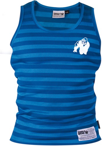 Gorilla Wear Stripe Stretch Tank Top - Blauw