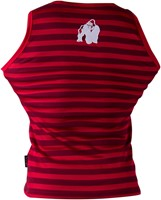 Gorilla Wear Stripe Stretch Tank Top Red-1