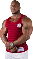 Gorilla Wear Stripe Stretch Tank Top Red-2