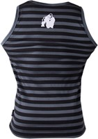 Gorilla Wear Stripe Stretch Tank Top Black-2