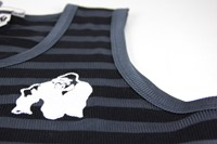 Gorilla Wear Stripe Stretch Tank Top Black-3
