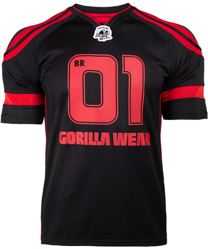 Gorilla Wear GW Athlete T-Shirt Big Ramy Zwart/Rood
