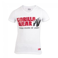 Gorilla Wear Utah V-Neck T-Shirt - White-1