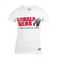 Gorilla Wear Utah V-Neck T-Shirt - White