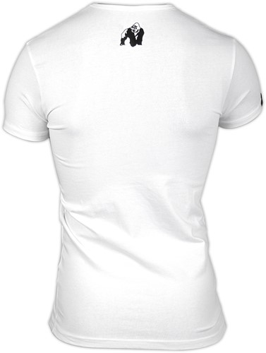Gorilla Wear Essential V-Neck T-Shirt - White-3