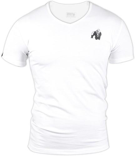 Gorilla Wear Essential V-Neck T-Shirt - White-2