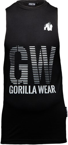 Gorilla Wear Dakota Mouwloos T-Shirt - Zwart