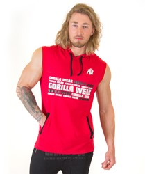 Gorilla Wear Melbourne S/L Hooded T-shirt - Red