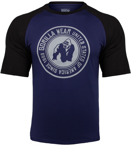 Gorilla Wear Texas T-shirt - Marineblauw/Zwart