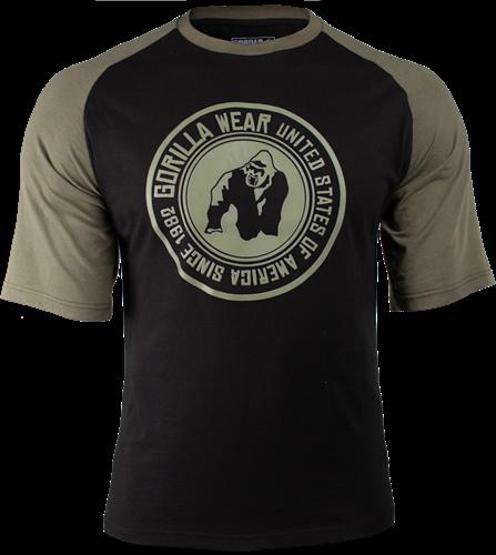 Gorilla Wear Texas T-shirt - Zwart/Legergroen