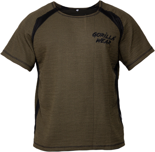 Gorilla Wear Augustine Old School Work Out Top - Legergroen