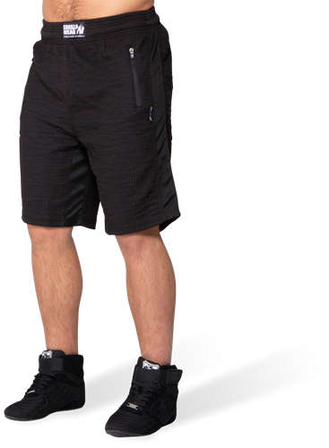 Gorilla Wear Augustine Old School Shorts - Zwart
