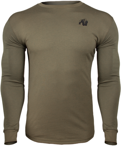 Gorilla Wear Williams Longsleeve - Legergroen - 3XL