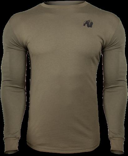Gorilla Wear Williams Longsleeve - Legergroen - 5XL