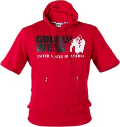 Gorilla Wear Boston Short Sleeve Hoodie - Red