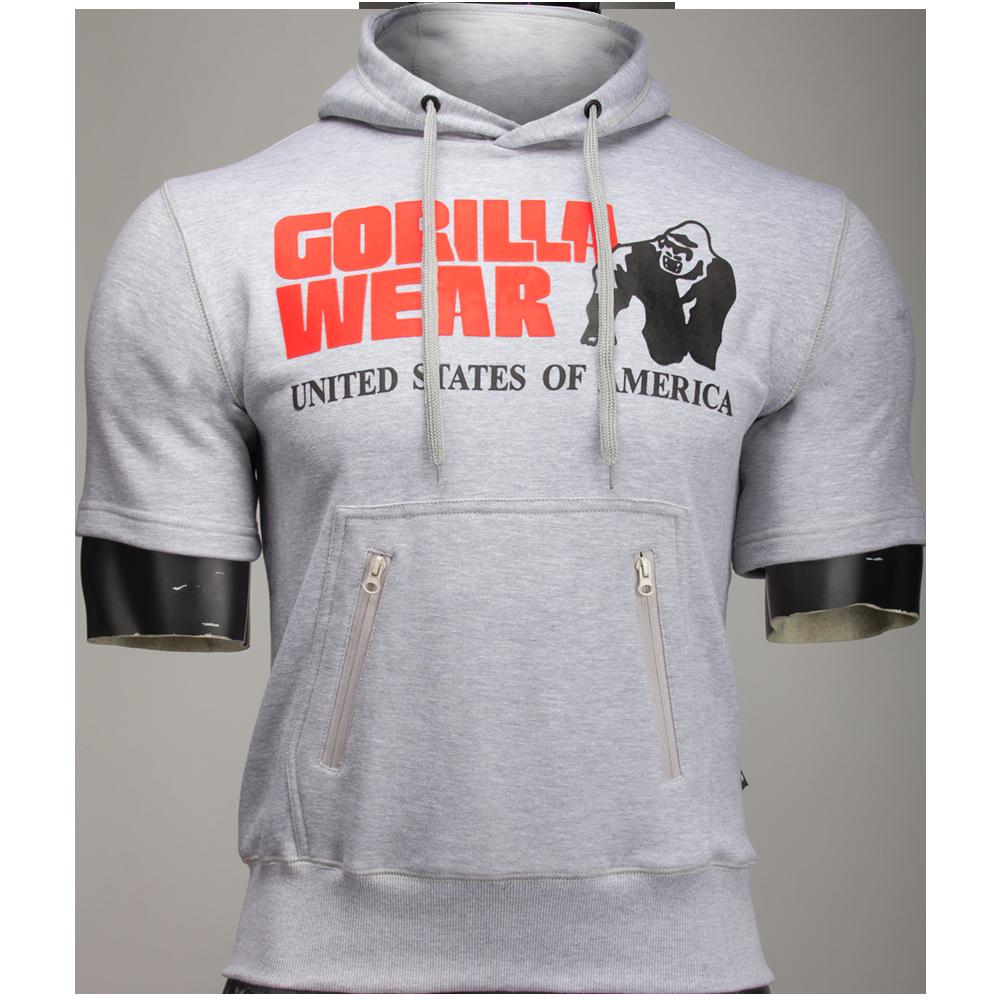 Gorilla Wear Boston Short Sleeve Hoodie Grey-XXL