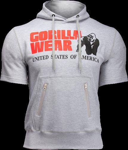 Gorilla Wear Boston Short Sleeve Hoodie - Grijs