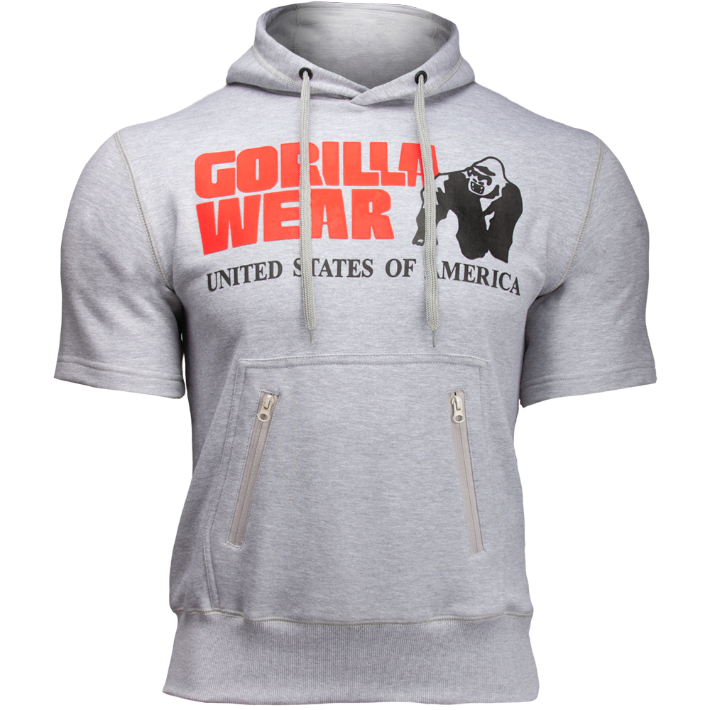 Gorilla Wear Boston Short Sleeve Hoodie Grey-M
