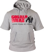 Gorilla Wear Boston Short Sleeve Hoodie - Grey-1