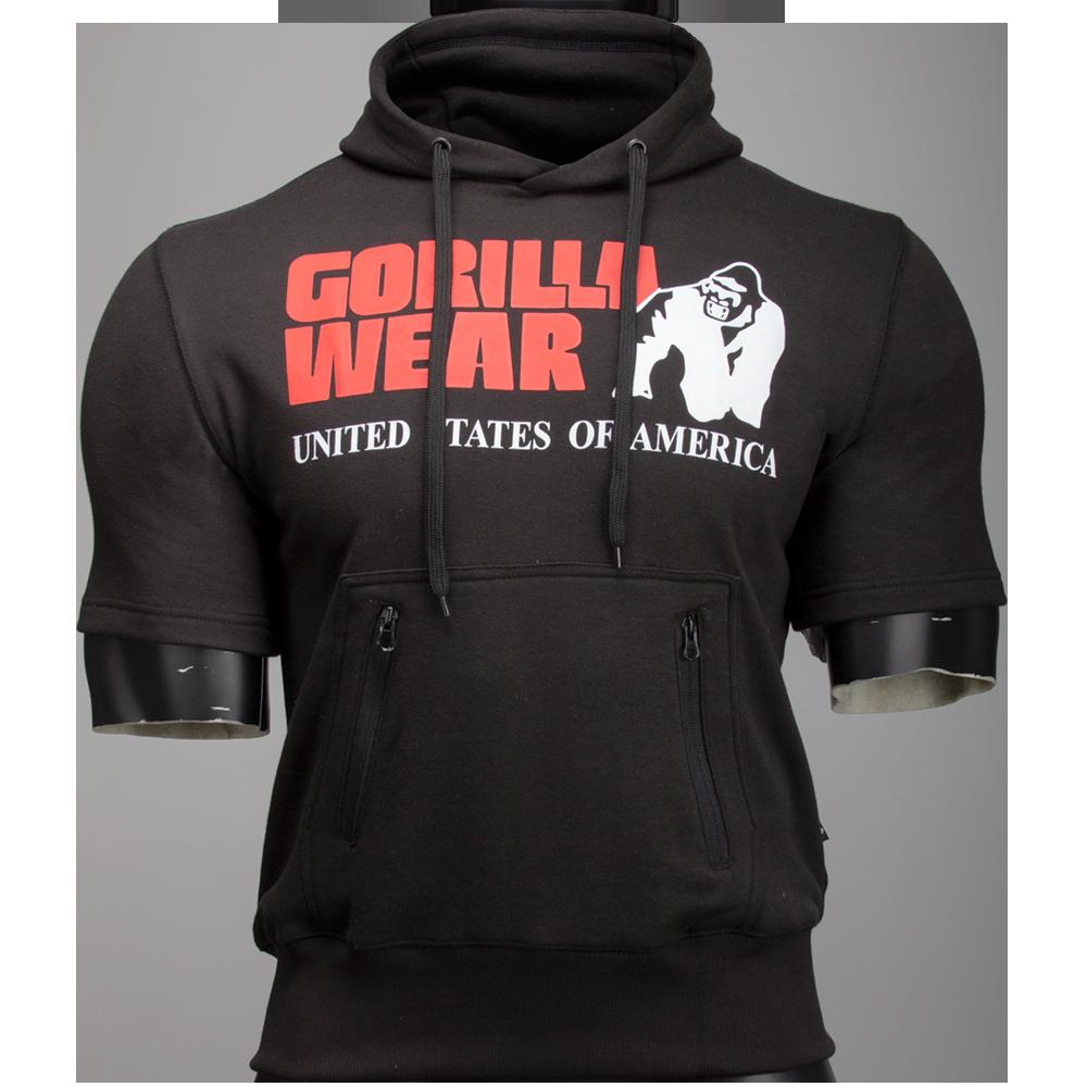 Gorilla Wear Boston Short Sleeve Hoodie Black-XL