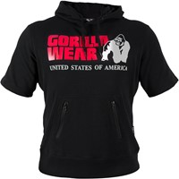 Gorilla Wear Boston Short Sleeve Hoodie - Black-1