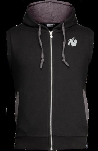 Gorilla Wear Springfield Sleeveless Zipped Hoodie - Zwart