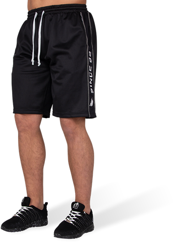 Gorilla Wear Functional Mesh Shorts - Zwart/Wit