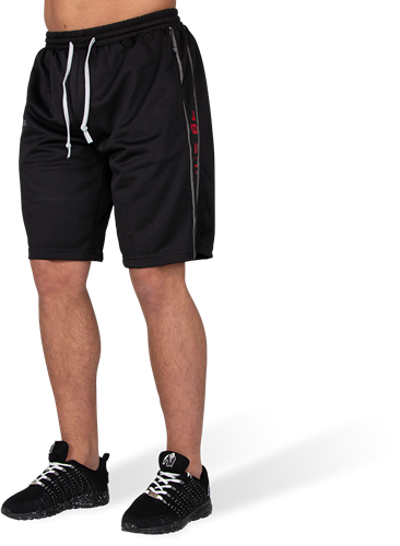Gorilla Wear Functional Mesh Shorts - Zwart/Rood