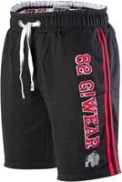 Gorilla Wear 82 Sweat Shorts- Black/Red-1