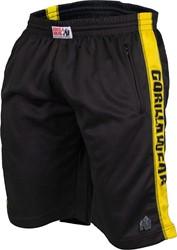 Gorilla Wear Track Shorts Black/Yellow