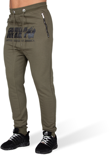 Gorilla Wear Alabama Drop Crotch Joggingbroek - Legergroen