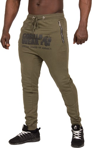 Gorilla Wear Alabama Drop Crotch Joggers - Army Green - XL-3