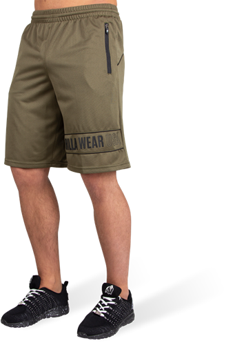 Gorilla Wear Branson Shorts - Zwart/Legergroen