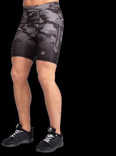 Gorilla Wear Franklin Shorts - Zwart/Grijs Camo