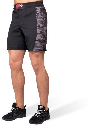 Gorilla Wear Kensington MMA Fightshorts - Zwart/Grijs Camo