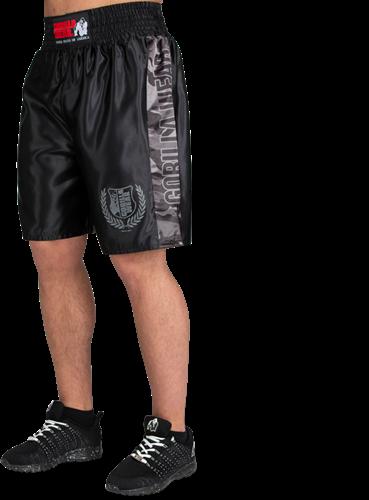 Gorilla Wear Vaiden Boxing Shorts - Zwart/Grijs Camo