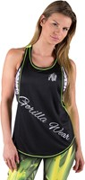 Gorilla Wear Florida Stringer Tank Top Black/Neon Lime-1