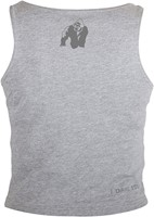 Gorilla Wear Oakland Crop Tank Gray/Neon Orange Camo-3