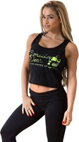 Gorilla Wear Oakland Crop Tank Black/Neon Lime Camo-1