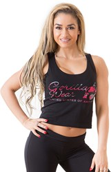 Gorilla Wear Oakland Crop Tank Black/Pink Camo