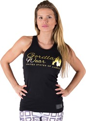 Gorilla Wear Florence Tank Top - Black/Gold