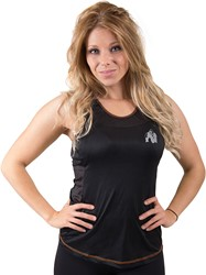 Gorilla Wear Marianna Tank Top - Black/ Neon Orange