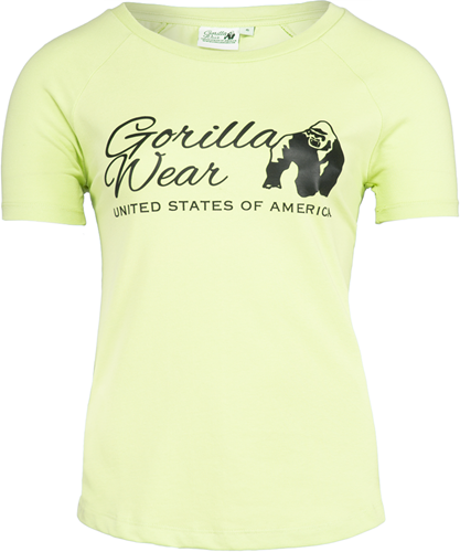 Gorilla Wear Lodi T-shirt - Lichtgeel