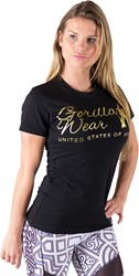 Gorilla Wear Luka T-shirt - Black/Gold