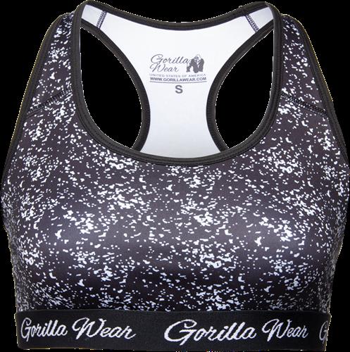 Gorilla Wear Hanna Sportbeha - Zwart/Wit
