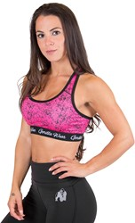 Gorilla Wear Hanna Sports Bra - Black/Pink