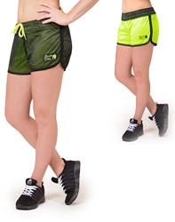 Gorilla Wear Madison Reversible Shorts - Black/Neon Lime