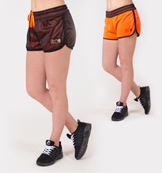 Gorilla Wear Madison Reversible Shorts - Black/Neon Orange